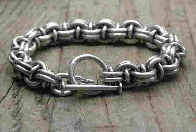 【送料無料】Vintage Silver 925 Toggle Bracelet (B051) ヴィンテージ シルバー 925 ブレスレット