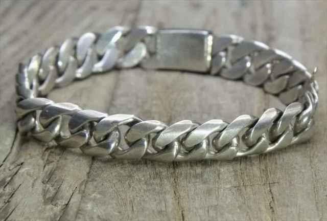 【送料無料】Vintage Mexican Silver 925 ID Bracelet (B054)ヴィンテージ メキシカン シルバー 925 ブレスレット アクセサリー ジュエリー