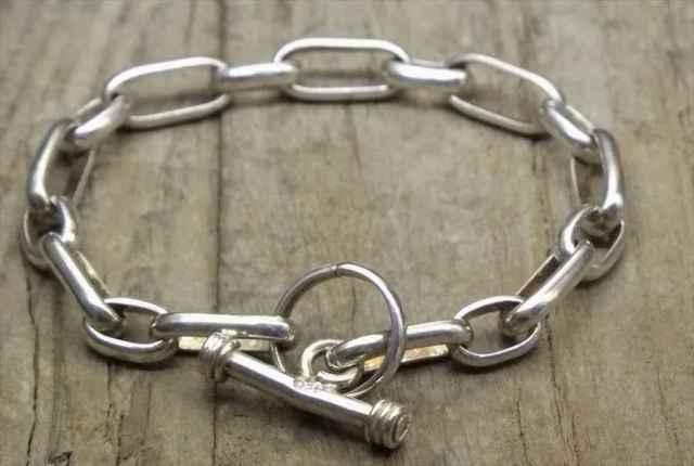 【送料無料】Vintage Silver 925  Toggle Bracelet (B055) ヴィンテージ シルバー 925 ブレスレット シルバー ジュエリー