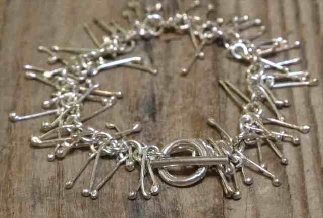 【送料無料】Vintage Mexican Silver 925 Toggle Bracelet  (B059)  ヴィンテージ メキシカン シルバー アクセサリー ブレスレット ジュエリー