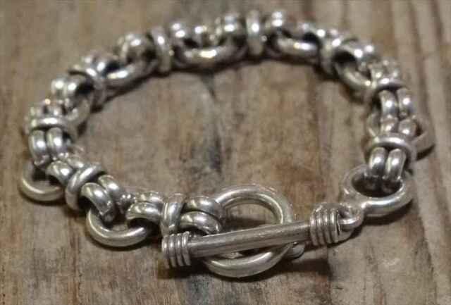 ヴィンテージ メキシカン シルバー (B061) ビンテージ アクセ トグルブレスレット レア Vintage Mexican Silver 925 Toggle Bracelet