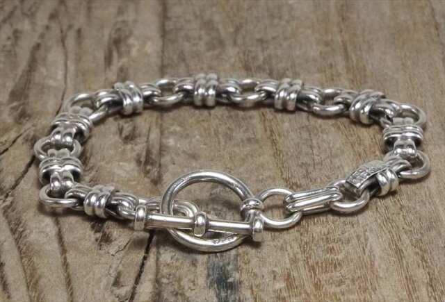 ヴィンテージ メキシカン シルバー (B077) ビンテージ アクセ トグル ブレスレット レア Vintage Mexican Silver 925 Toggle Bracelet