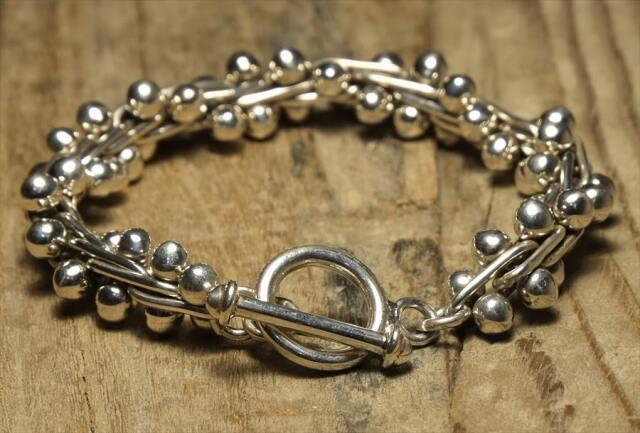 ヴィンテージ メキシカン シルバー 新品 (B095) アクセサリー ブレスレット Vintage Mexican Silver 925 Toggle Bracelet