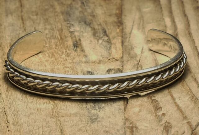 ヴィンテージ メキシカン シルバー (B100) ビンテージ アクセ バングル ブレスレット レア Vintage Mexican Silver 925 Bangle Bracelet
