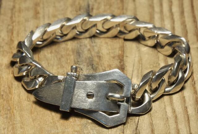 ヴィンテージ シルバー アクセサリー ブレスレット Vintage Silver 925 ベルト (B109)