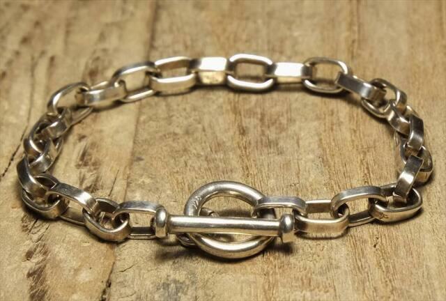 ヴィンテージ シルバー アクセサリー ブレスレット Vintage Silver 925 Toggle Bracelet (B112)