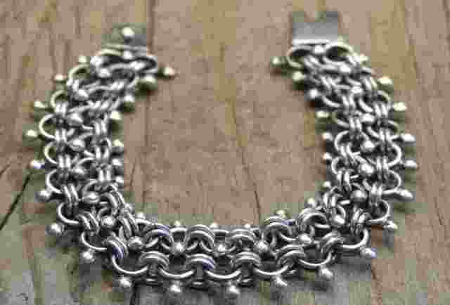 ヴィンテージ メキシカン シルバー (B030) ビンテージ アクセ モード ブレスレット レア Vintage Mexican Silver 925 Bracelet