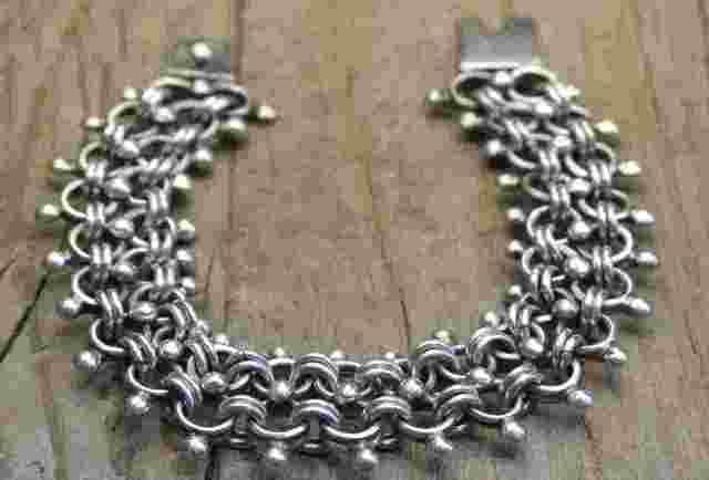 【送料無料】Vintage Mexican Silver 925  Bracelet  (B030)  ヴィンテージ メキシカン シルバー アクセサリー ブレスレット