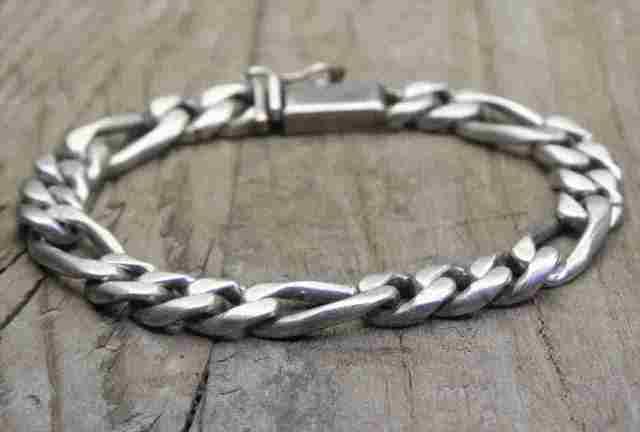 【送料無料】Vintage Mexican Silver 925 Bracelet (B031)  ヴィンテージ メキシカン シルバー アクセサリー ブレスレット
