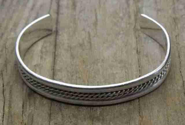 【送料無料】 Vintage Mexican Silver 925 Bangle Bracelet (B050) ヴィンテージ メキシカン シルバー アクセサリー バングル ブレスレット