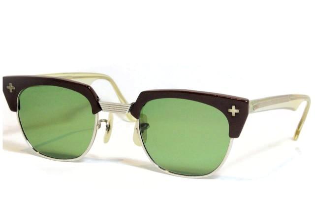 【送料無料】Bausch&Lomb BLOWLINE SAFETY CROSS 1950'S Vintage ボシュロム ヴィンテージメガネ(BRN)