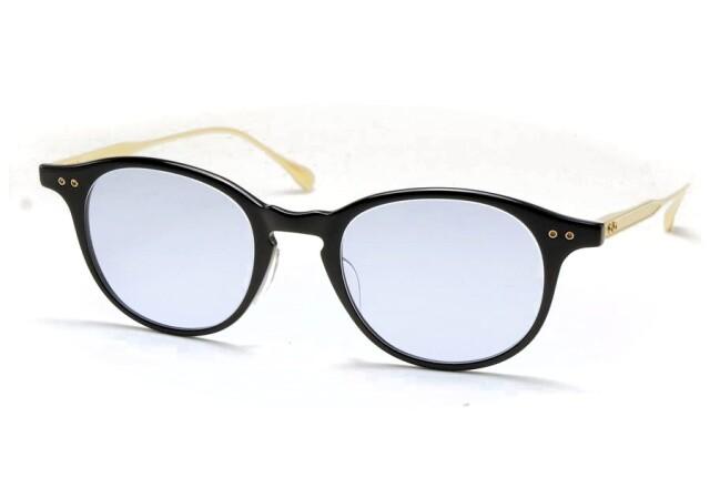 DITA (ディータ) ASH (アッシュ) DRX-2073-D-49-AF Black - 12K Gold 【Size49】 Blue Lens