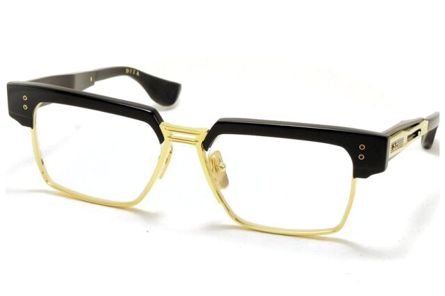 DITA (ディータ)  HAKATRON(ハカトロン) DTX410-A-01 Yellow Gold - Black w Clear