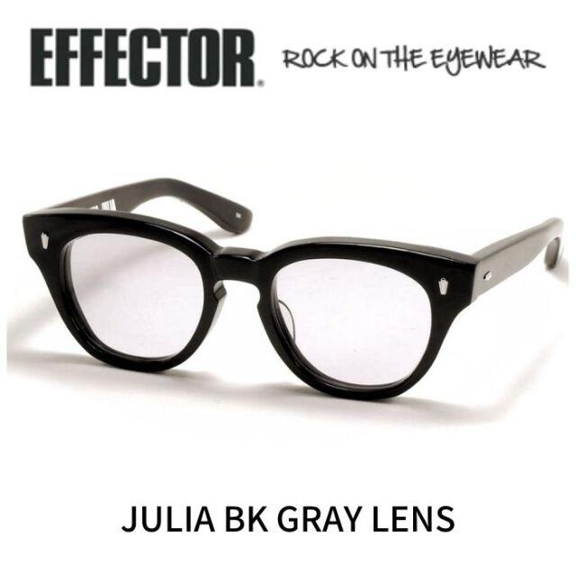 エフェクター ジュリア サングラス  EFFECTOR JULIA BK (Black /Gray-Lens)
