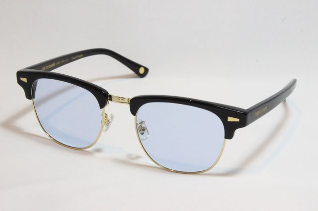 【送料無料】FREEDOM SPECTACLES (フリーダムスペクタクルス) BAKER  COLOR. ( BLACK - GOLD / LIGHT BLUE )