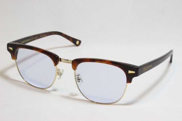 【送料無料】FREEDOM SPECTACLES (フリーダムスペクタクルス) BAKER  COLOR.  ( TORT- GOLD / LIGHT PURPLE)