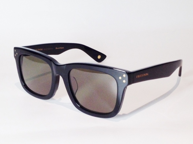 【送料無料】FREEDOM SPECTACLES (フリーダムスペクタクルス) HARRY  COLOR. 01 ( BLACK / DARK GREEN )