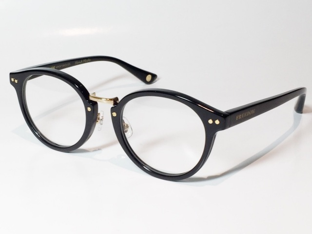 【送料無料】FREEDOM SPECTACLES (フリーダムスペクタクルス) MARTIN  COLOR. ( Black - Yellow Gold  / Clear )