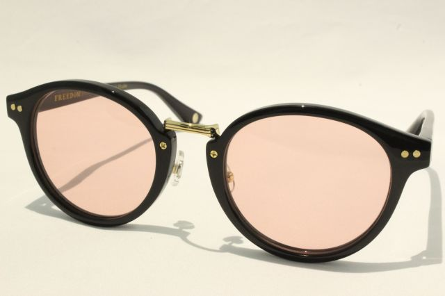 【送料無料】FREEDOM SPECTACLES (フリーダムスペクタクルス) MARTIN COLOR.  ( Black / Light Pink )