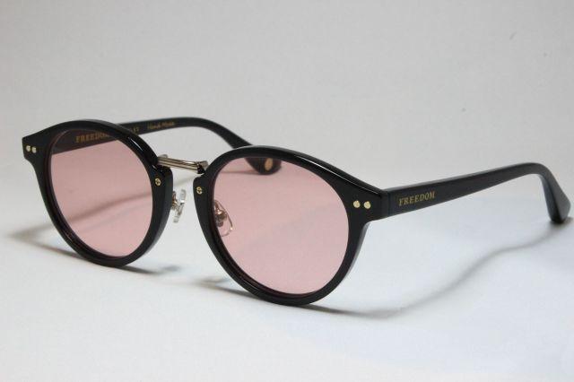 【送料無料】FREEDOM SPECTACLES (フリーダムスペクタクルス) MARTIN COLOR.  ( Black / Light Pink )