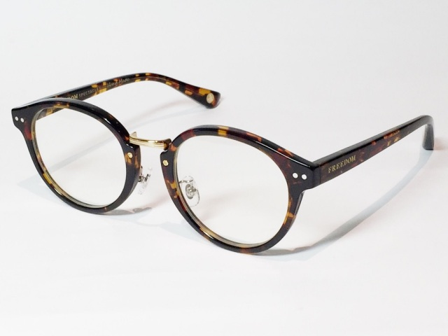 【送料無料】FREEDOM SPECTACLES (フリーダムスペクタクルス) MARTIN  COLOR. ( Tortoise - Yellow Gold  / Clear )