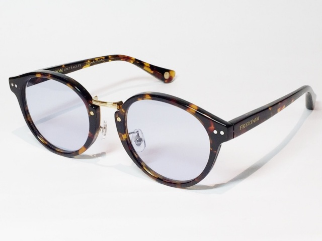 【送料無料】FREEDOM SPECTACLES (フリーダムスペクタクルス) MARTIN  COLOR. ( Tortoise - Yellow Gold  / Light Blue )