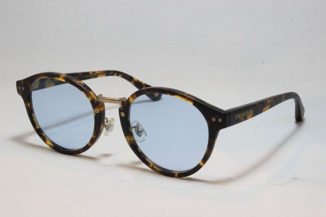 【送料無料】FREEDOM SPECTACLES (フリーダムスペクタクルス) MARTIN  COLOR. ( Matte Yellow Tortoise - Matte Dark Gunmetal / Light Blue )
