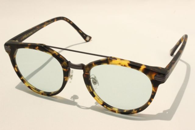 【送料無料】FREEDOM SPECTACLES (フリーダムスペクタクルス) POWELL  COLOR. ( Matte Yellow Tortoise - Matte Dark Gunmetal / Light Green )