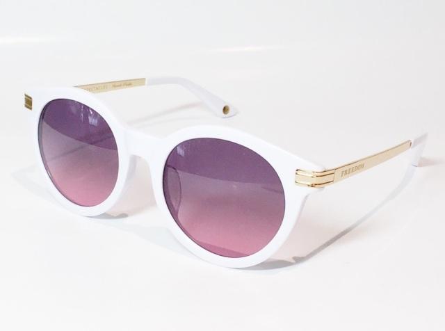 【送料無料】FREEDOM SPECTACLES (フリーダムスペクタクルス) ROSA 2  C.05 ( White / Pink )