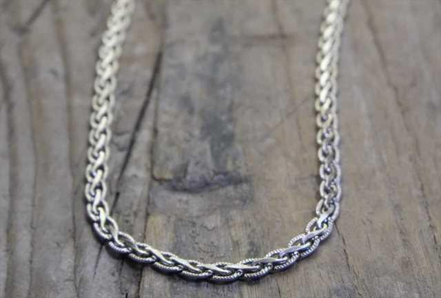 【送料無料】Vintage Italy Silver 925 Necklace (N012) ヴィンテージ シルバー アクセサリー ネックレス