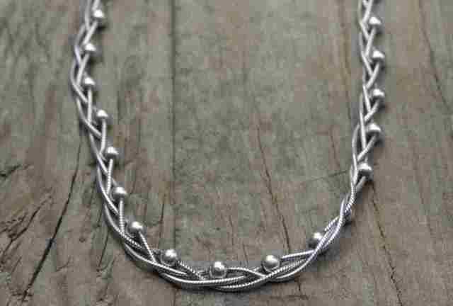 【送料無料】Vintage Italy Silver 925 Necklace (N014) ヴィンテージ シルバー アクセサリー ネックレス