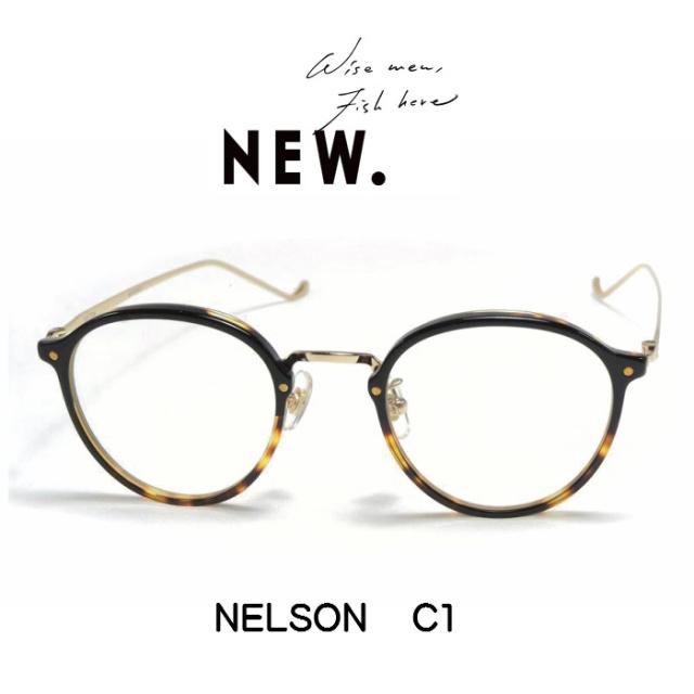 NEW. (ニュー)  NELSON 【ネルソン】  C1 (Black-Brown-Half)