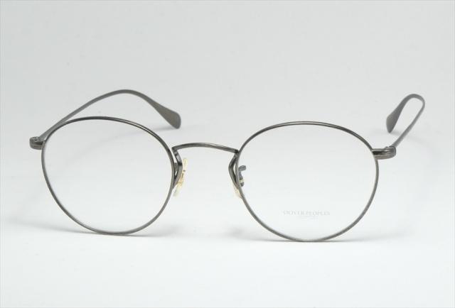 オリバーピープルズ メタル メガネ ブラック コールリッジ   OV1186 5244 OLIVER PEOPLES AntiqueBlack  (UVカットレンズ付き)