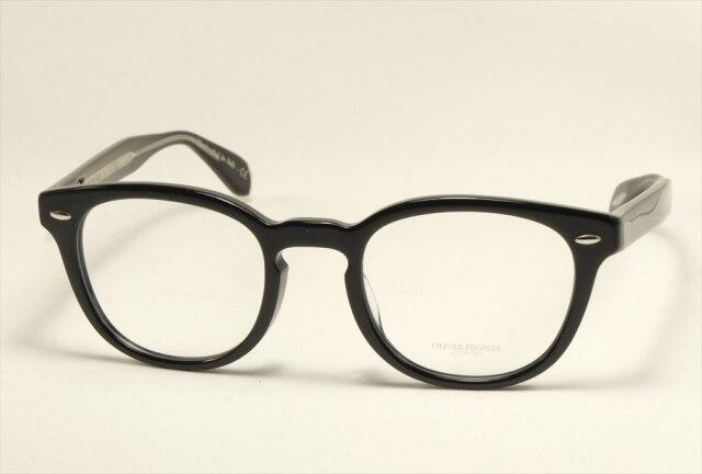 オリバーピープルズ シェルドレイク メガネ ブラック ボストン  OV5036A  1492 OLIVER PEOPLES Sheldrake Size49 Black  (UVカットレンズ付き)