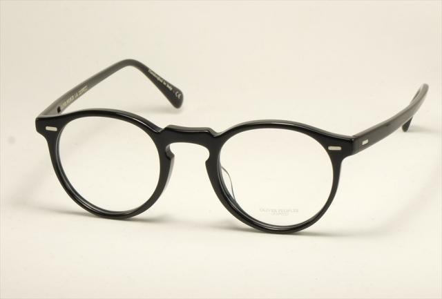 オリバーピープルズ グレゴリーペック メガネ ブラック ボストン  OV5186A  1005 OLIVER PEOPLES GregoryPeck Black  (UVカットレンズ付き)