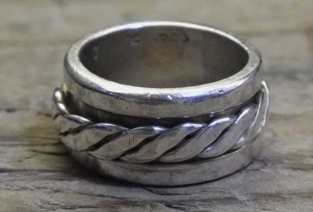 【送料無料】Vintage Mexican Silver 925 Spinner Ring (R012) ヴィンテージ シルバー アクセサリー リング