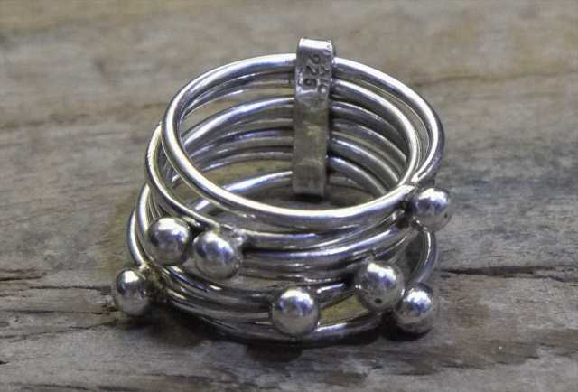 【送料無料】Vintage Mexican Silver 925 Ring (R019) ヴィンテージ メキシカン シルバー アクセサリー リング