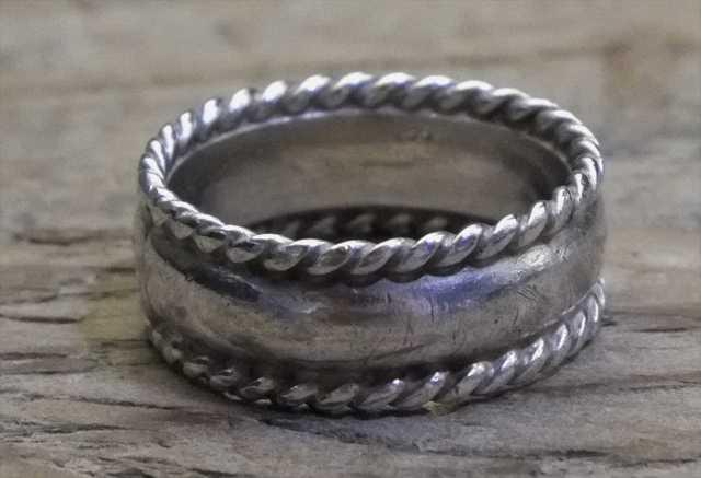 【送料無料】Vintage Mexican Silver 925 Ring (R023) ヴィンテージ メキシカン シルバー アクセサリー リング