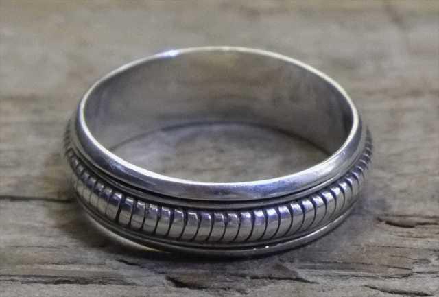 【送料無料】Vintage Mexican Silver 925 Spinner Ring (R024) ヴィンテージ シルバー アクセサリー リング