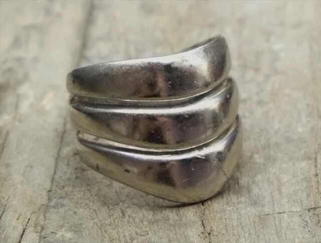 ヴィンテージ スターリング シルバー リング Size16 モダン (R039) Vintage  Silver 925 Ring