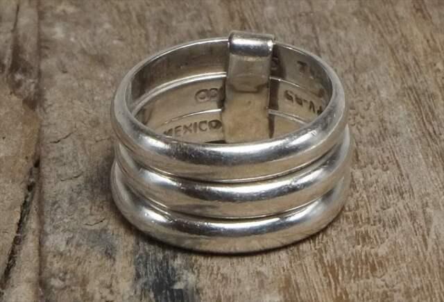 ヴィンテージ メキシカン シルバー 925 (R043) ジュエリー アクセ  3連リング Vintage Mexican Silver 925 Ring