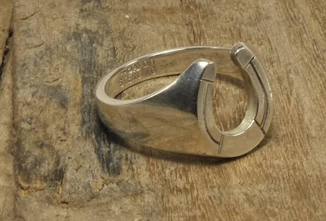 ヴィンテージ スターリング シルバー リング Size21 馬蹄 ホースシュー (R044) Vintage  Silver 925 Ring