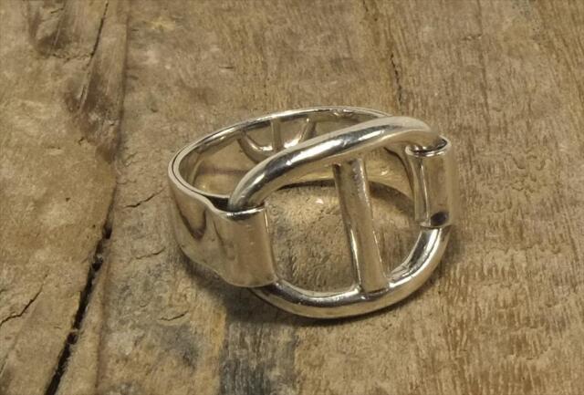 ヴィンテージ スターリング シルバー リング Size14 エルメス シェーヌダンクル (R045) Vintage  Silver 925 Ring