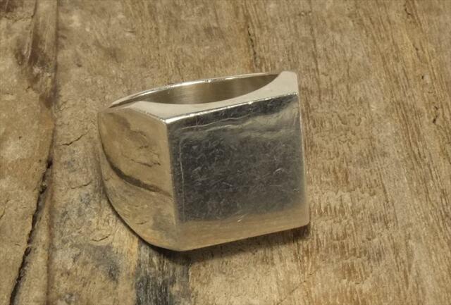 ヴィンテージ スターリング シルバー リング Size18 スクエア (R046) Vintage  Silver 925 Ring