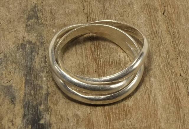 ヴィンテージ メキシカン シルバー 925 (R047) ジュエリー アクセ  3連 ティファニー Vintage Mexican Silver 925 Ring
