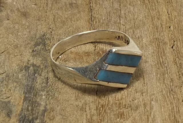 ヴィンテージ メキシカン シルバー 925 (R048) ジュエリー アクセ  ひし形 ターコイズ Vintage Mexican Silver 925 Ring