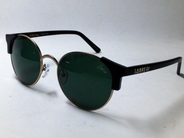 【送料無料】SABRE(セイバー) SHEENA SV207-123J (BLACK-MATT GOLD / GREEN LENS)