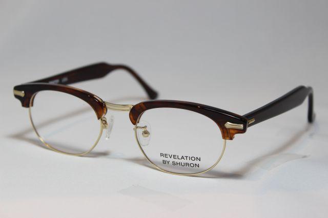 シュロン レベレーション メガネ サーモント ブロー サイズ50 SHURON REVELATION Tortoise Size50 (UVカットレンズ付き)