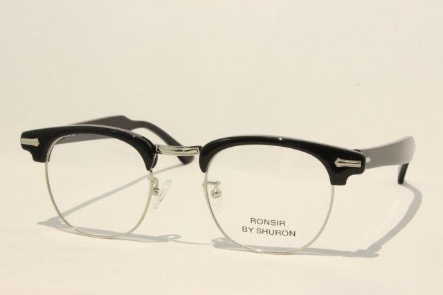 シュロン ロンサー メガネ サーモント ブロー サイズ48 SHURON RONSIR Black Size48 (UVカットレンズ付き)
