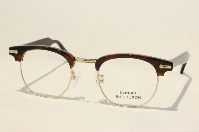 シュロン ロンサー メガネ サーモント ブロー サイズ48 SHURON RONSIR Tortoise Size48 (UVカットレンズ付き)